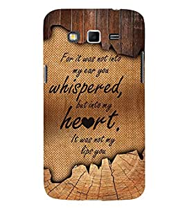 Love Quote 3D Hard Polycarbonate Designer Back Case Cover for Samsung Galaxy Grand Neo Plus :: Samsung Galaxy Grand Neo Plus i9060i