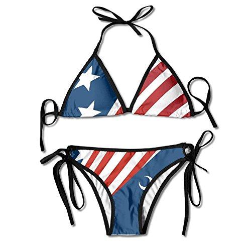 South Carolina Womens Zip (South Carolina Flag Bikini Women's Summer Swimwear Triangle Top Bikinis Swimsuit Sexy 2-Piece Set)