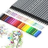 Farbige Premium-Fineliner zum Zeichnen (Set von 24). 0,4mm feine Spitze....