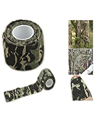 Broadroot Roll Camo Stretch Bandage Camping Hunting Camouflage Tape Cloths 4.5m