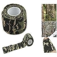 broadroot rollo camuflaje elástico vendaje Camping Caza camuflaje cinta de paños de 4,5m