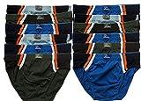 ► 6 oder 12 Herren Sport - Slips in Farbkombinationen