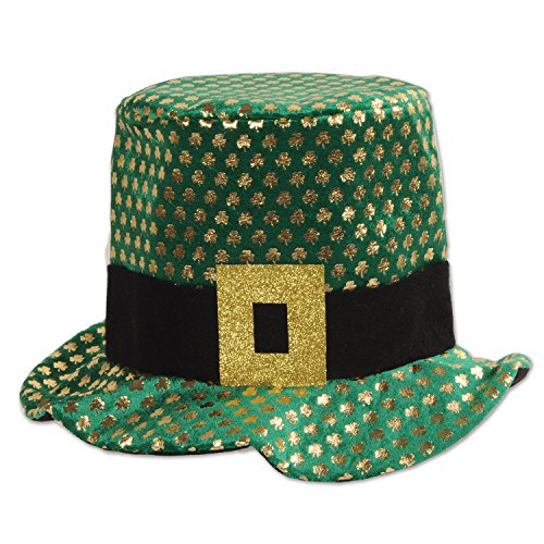 Beistle 30715Plüsch Shamrock Hat, grün/gold/schwarz