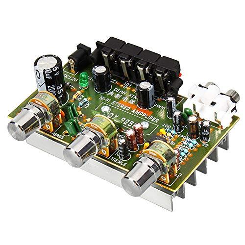 AIYIMA 30 W x 2 Amplificador de Audio estéreo de Doble Canal 12 V para Ordenador Altavoz estantería de Libros DIY