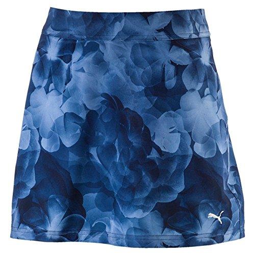 Puma Bloom Dry Golf Skort Damen Rock Kurz Frauen Golfrock mit Shorts dunkelblau Größe 40 (Rock Outfit Skort)
