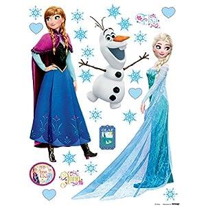 Wand Sticker Frozen DK1797, Polymerfilm, 65 x 0,02 x 85 cm, mehrfarbig