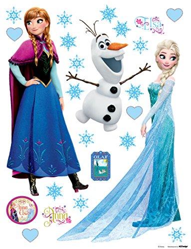 Ag design dks 1095disney frozen, la regina di ghiaccio, adesivi da parete, 30x 30cm–parte 1, carta, colorato, 30x 30cm