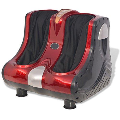Festnight Fußmassagegerät Wadenmassage mit Wärmefunktion für Zuhause und Büro Entspannung Rot - Fuß-waden-massagegerät