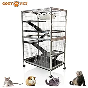 Cozy Pet Rodent Cage for Rat, Ferret, Chinchilla, Degu or other Small Pets,  Large Rodent Cage RC02 (We do not ship to Northern Ireland, Scottish