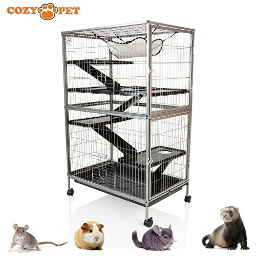 Cozy Pet Rodent Cage for Rat, Ferret, Chinchilla, Degu or other Small Pets, Large Rodent Cage RC02 (We do not ship to Northern Ireland, Scottish Highlands & Islands, Channel Islands, IOM or IOW.)