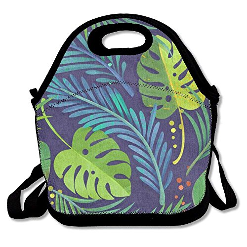 Rain Forest Printing Lunch Bags Insulated Zip Cooler Bag Portable Takeaway Film Pack Cooler Bag Lunch Box Package Picnic Outdoor Travel Fashionable Handbag Pouch For Women Men Kids Girls (Womens Insulated Rain)