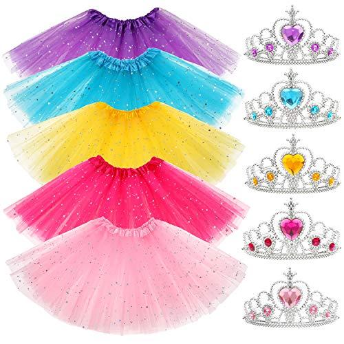 Prinzessin Tüllrock Krone Dress up Zubehör Ballettrock Tütü Geburtstag Geschenke Party Gastgeschenke Tiaras für Prinzessin Mädchen ()