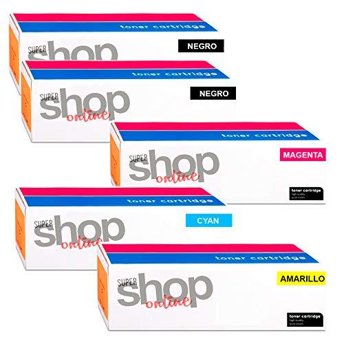 SSO Pack x 5 Cartuchos de Tóner Reciclado, sustituye a KYOCERA  (TK-8305BK,TK-8305C,TK-8305M,TK-8305Y) ··· Apto para: Copystar CS 3051 Ci,  Copystar