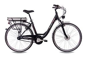 "28"" Zoll Cityrad ALU Fahrrad E-BIKE Pedelec CHRISSON E-LADY mit 7G SHIMANO NEXUS & StVZO schwarz"