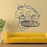 Pizza Restaurant Wand Fenster Aufkleber Küche Lebensmittel
