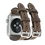 Solo Pelle Apple Watch Series 1 / 2 / 3 Watch Leder Armband Uhrenband mit passendem...