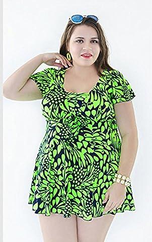Sport Tent-Europe, Mesdames maillot de bain sexy imprimé jupe fendue costumes , green , 60