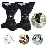 Lusenbo Genouillères de soutien articulaire, Genouillère de protection du genou Booster de force de ressort de rappel réglable pour genou de course en plein air (1 paire)