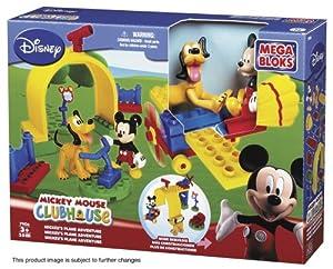 Mega Bloks 7906 Mickey Maus Clubhaus - Avión y Accesorios de Juguete (25 Piezas)