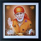 #10: Shree Handicraft Sai Baba Photo Frame (32.5 cm x 32.5 cm x 1.5 cm, Acrylic Sheet Used)