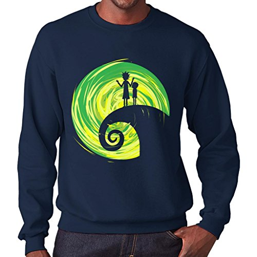 Rick And Morty Nightmare Before Christmas Men's Sweatshirt (Nightmare Christmas-pullover Before)