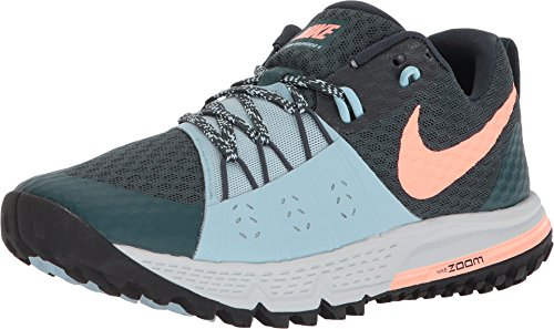 Nike Damen WMNS AIR Zoom Wildhorse 4 Laufschuhe, Grün (Deep Jungle/Ocean Bliss/Armoury Navy/Crimson Pulse 301), 37.5 EU Deep Navy Schuhe