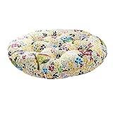PROKTH Runde Leinen Sitzkissen aus Baumwolle Meditationskissen Japanese Futon Mat