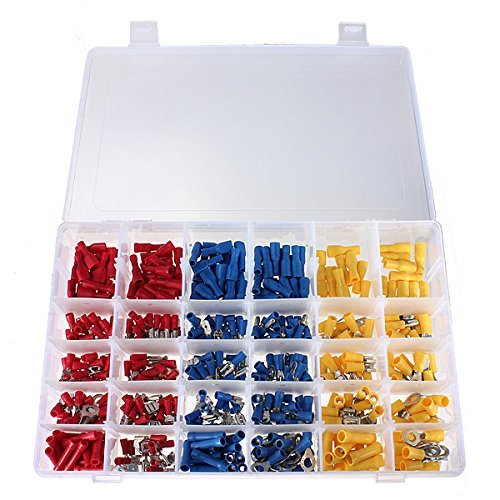 Crimpkontakte Stecker 480 Stück für elektrische Leitungen, isoliertes Sortiment Aderendhülsen Aderendhülsen Stiftende von Trimming Shop
