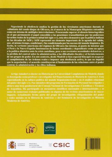 Negociando la obediencia: Gestión y reforma de los virreinatos americanos en tiempos del conde-duque de Olivares (1621-1643): 50 (Colección Americana)