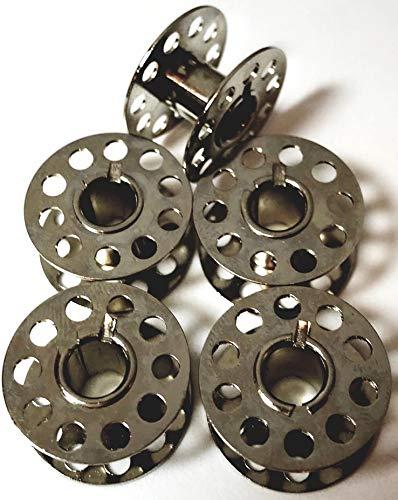 5 Spulen aus Metall für Necchi 559 Nähmaschinen -