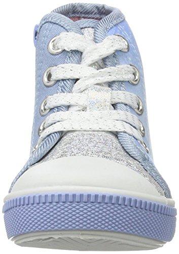 Die Eiskönigin Fz003515, Chaussons montants fille Blau (WHITE/M.BLUE 312)