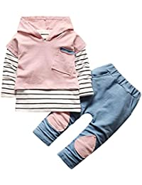 ALIKEEY Baby Clothes Autumn/Children Kid Boys Letter Dinosaur Print T-Shirt Tops Shirts Tee Clothes