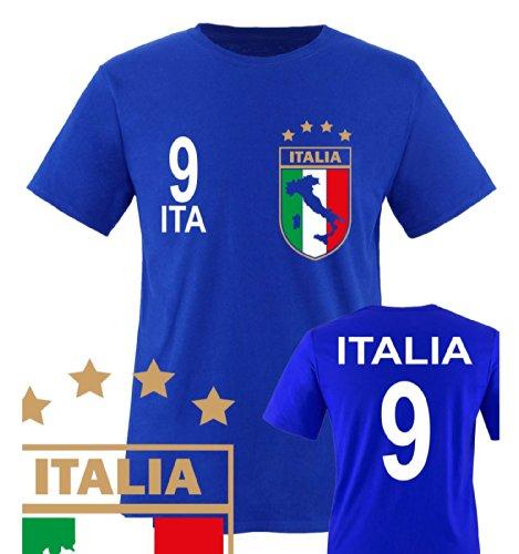 Kostüme Disco Mama (Comedy Shirts - WM 2014 - ITALIEN - VORNE und HINTEN - Nr. 9 - Kinder T-Shirt - Royalblau Gr.)