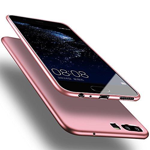 X-level Huawei P10 Hülle, [Guadian Serie] Soft Flex Silikon [Roségold] Premium TPU Echtes Telefongefühl Handyhülle Schutzhülle für Huawei P10 Case Cover