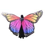 Xmiral Mujer Mariposa Alas Chal Impermeable para Disfraz Danza Baile Bufandas Duendecito Poncho Accesorio Actuaciones