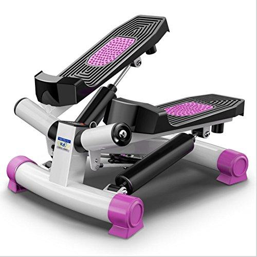 LY-01 Stepper Mini Stepper mit LCD-Konsole Kalorienzähler, Schrittzähler, Timer, Übung Schritt Maschine Aerobic Fitness Stepper Seile Workout, leicht und tragbar, einfach zu Speichern