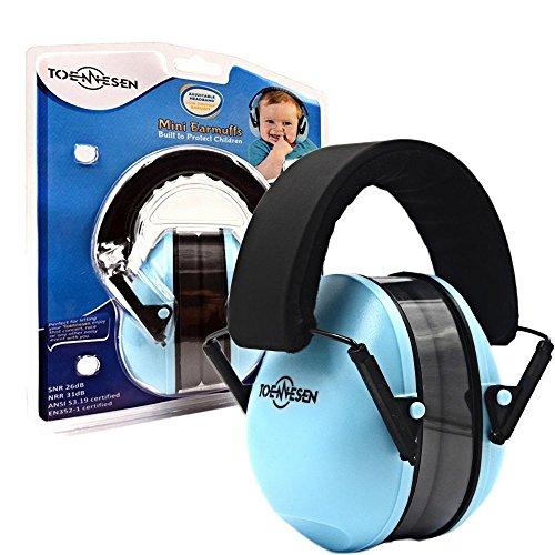Toennesen bambino paraorecchie Protezione acustica pieghevole con archetto Cuffia protettiva per i bambini neonati bambini e adulti riduzione del rumore Protector, cielo blu