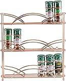 Porte-épices autoportant - Cuivre à 3 niveaux/Or rose