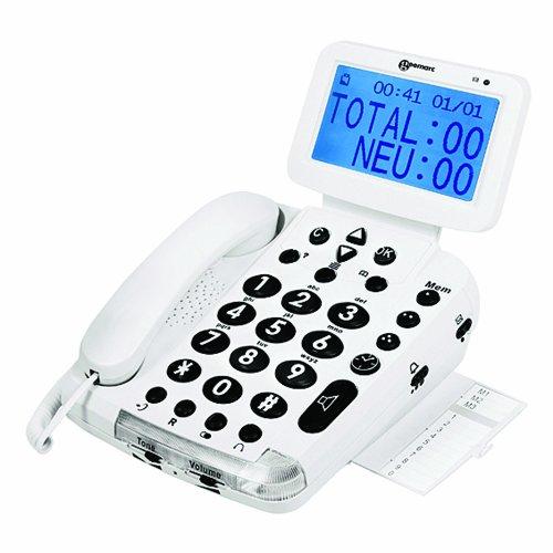 Geemarc Telecom S.A Geemarc BDP400 schnurgebundenes sprechendes Großtastentelefon für Blinde und Sehbehinderte