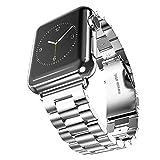 QIONGQIONG Iwatch Apple Watch Strap Armband Metalllegierung Stahlstreifen Edelstahl Iwatch Series4/3/2/1, 42Mm/44Mm Silber,42Mm