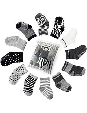6er-pack Stoppersocken Kinder Baby ABS Socken, Anti Rutsch Socken für 0-24 Monate Baby Mädchen und jungen, von...