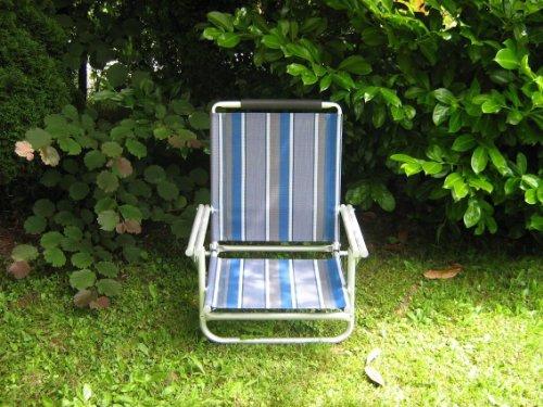 Plage beach lot de 2 chaises-rabat en aluminium-sTABIELO aZURO ou bleu-dimensions : env. 120 kg, capacité de charge : env. 2,8 kg - 4 voies dossier réglable de 62 cm de haut également disponibles moyennant supplément est holly-sUN-sET fächerschirm-bleu-jaune-rouge/beige et holly 360°-universalgelenkhalterung ® holly produits sTABIELO ®-innovation fabriqué sO-longue en allemagne-stocks-sunshade holly