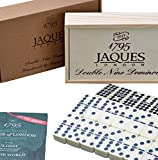 Dominoes - Club Double Nine Dominoes Set in a Wooden Slide Lid D9 Box - Jaques of London