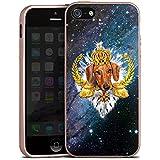 Apple iPhone 5s Hülle Silikon Case Schutz Cover Dackel König Hund