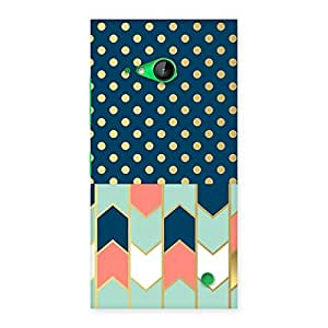 NEO WORLD Premium Fill Pattern Pastal Back Case Cover for Lumia 730