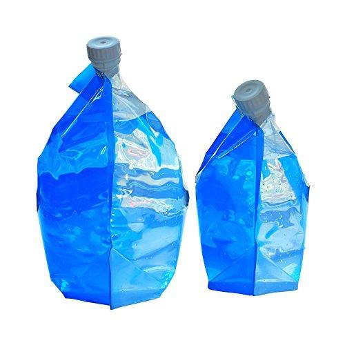 Lwj Portable Falten Wasser Lagerung Hebekissen für Camping Wandern Überleben Hydratation Blase Blauen Wasserbeutel Falten Wasserbeutel (Größe : 10L) (Wasser Hydratation Blase)