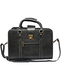 Hidekin - Eltanin Is One Of Our Most Eye-catching Black Color Leather Laptop Bag.