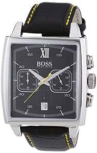 Hugo Boss - 1512733 - Montre Homme - Quartz Chronographe - Cadran Noir - Bracelet Cuir Noir