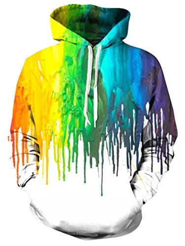 Bfustyle Graffiti Melting Farbe Hoody Journey Pullover für Teen Girls (Sport Teen Girl)