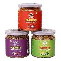 Maa (My Authentic Appetite) Flavorful Ratlami Peanuts (135 GM) Tangy Chilli Lemon Peanuts (135 GM) Spicy Chilli Garlic Peanuts (135 GM)